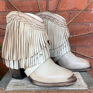 FREEBIRD BY STEVEN Tonto Fringe Ice Ankle Bootie